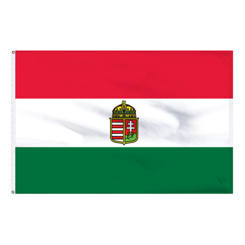 Hungary 2ft x 3ft Nylon Flag - With Seal