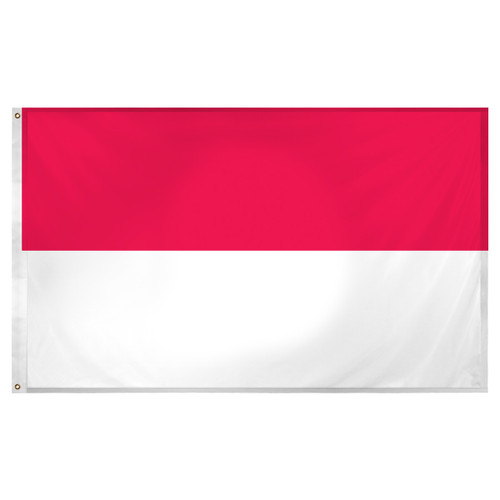 Indonesia flag 3ft x 5ft Super Knit Polyester