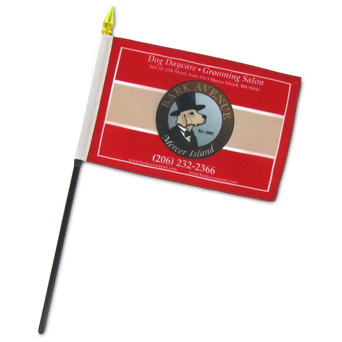 Custom 4in x 6in Thermal Printed Stick Flags