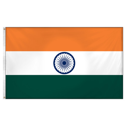 India Flag 3ft x 5ft Super Knit Polyester