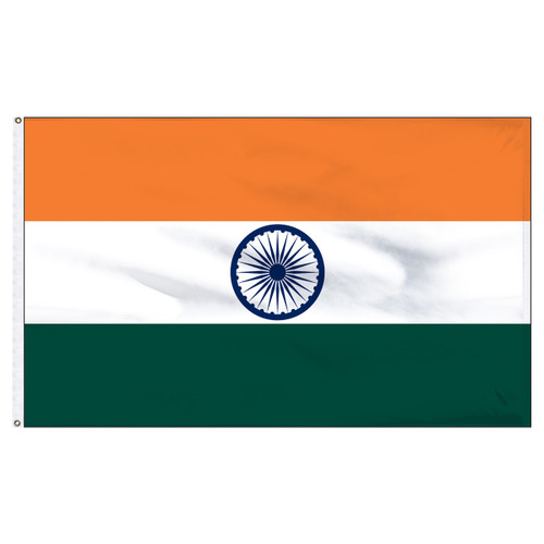 India 6x10ft Nylon Flag