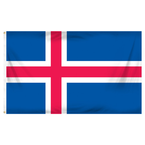 Iceland 3ft x 5ft Printed Polyester Flag