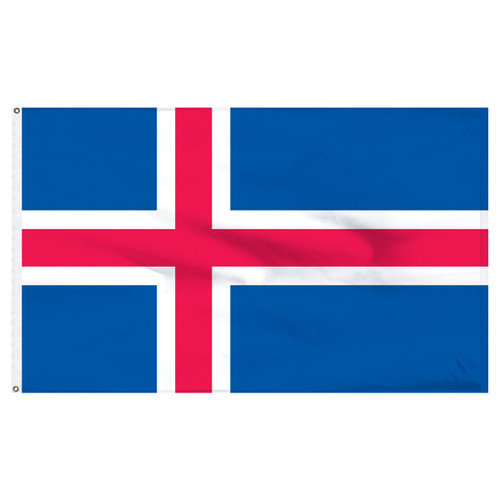 Iceland 5ft x 8ft Nylon Flag