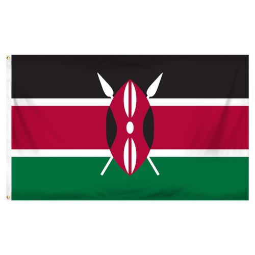 Kenya 3ft x 5ft Printed Polyester Flag