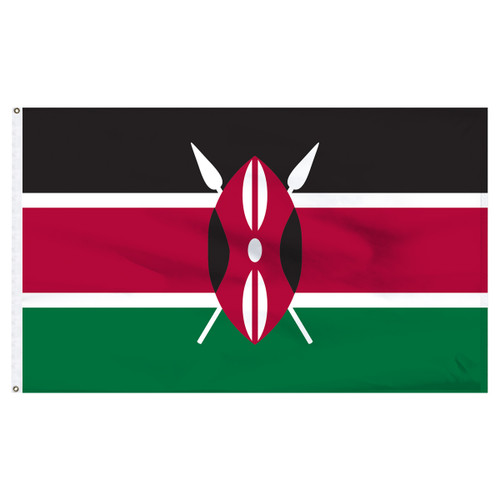 Kenya 5ft x 8ft Nylon Flag