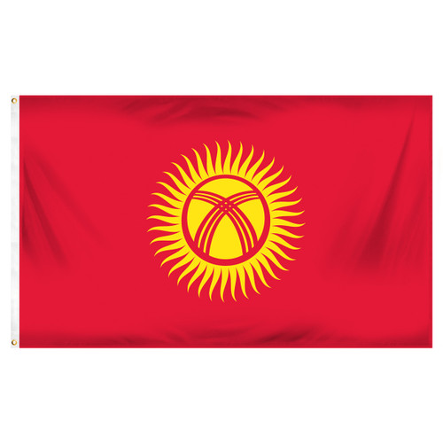 Kyrgyzstan 3ft x 5ft Printed Polyester Flag