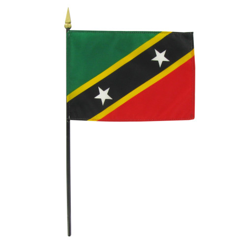 St. Kitts and Nevis 4in x 6in Hand Flag