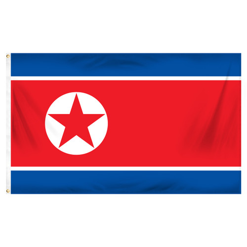 North Korea 3ft x 5ft Printed Polyester Flag