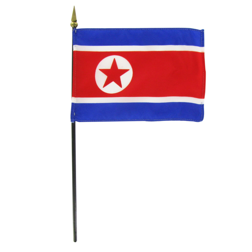 North Korea 4in x 6in Flag