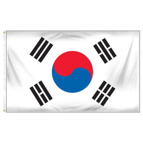 South Korea 3ft x 5ft Printed Polyester Flag