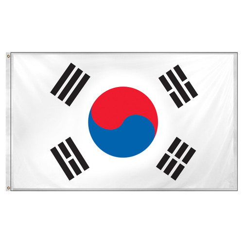 South Korea flag 3ft x 5ft Super Knit Polyester