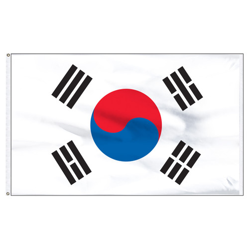 Korea(South)5ft x 8ft Nylon Flag