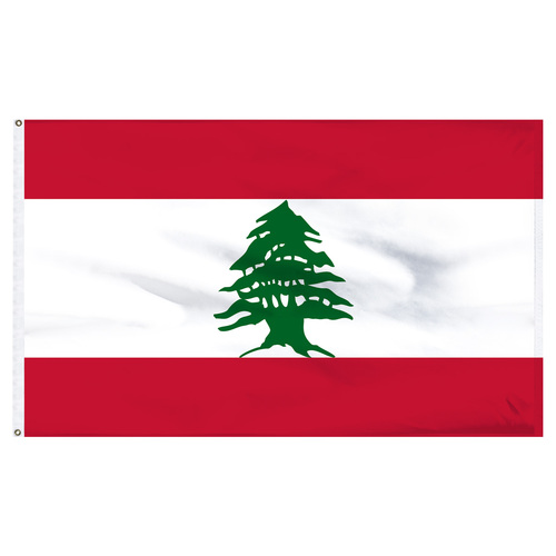 Lebanon 5ft x 8ft Nylon Flag