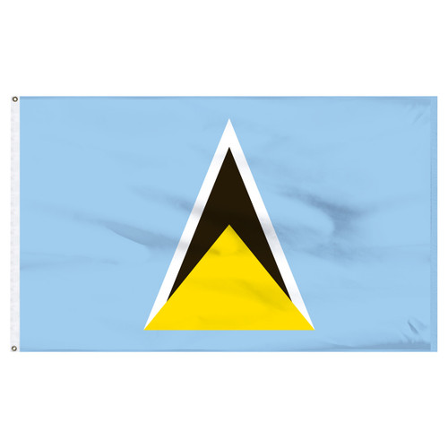 St. Lucia 2ft x 3ft Nylon Flag