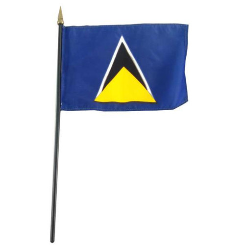 St Lucia flag 4 x 6 inch