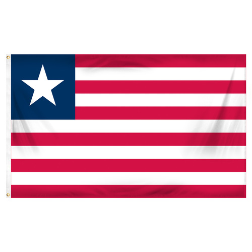 Liberia 3ft x 5ft Printed Polyester Flag