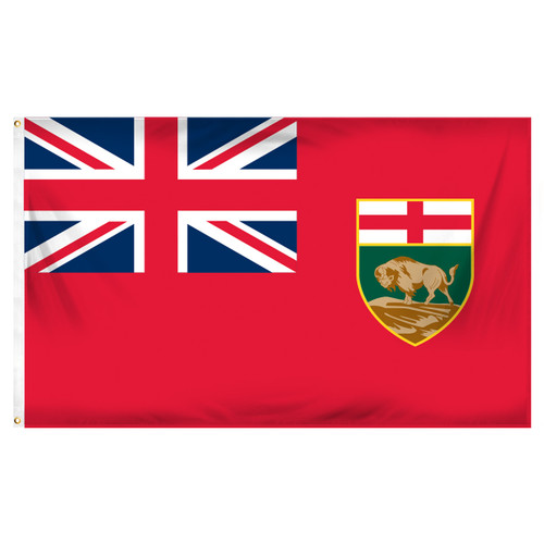 Manitoba - Canada - 3ft x 5ft Printed Polyester Flag