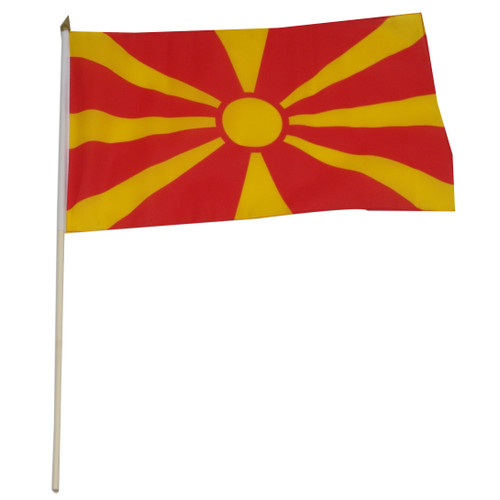 Macedonia flag 12 x 18 inch