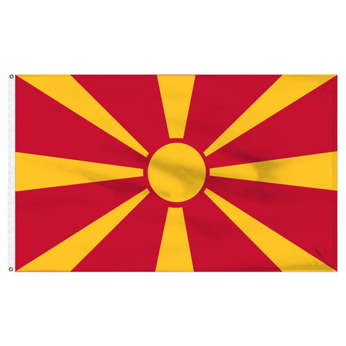 Macedonia 2ft x 3ft Nylon Flag