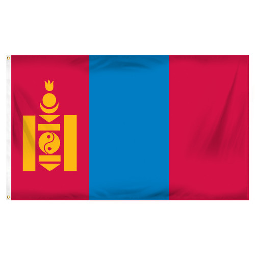 Mongolia 3ft x 5ft Printed Polyester Flag