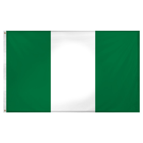 Nigeria Flag 3ft x 5ft Super Knit Polyester