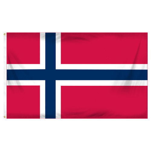 Norway 3ft x 5ft Printed Polyester Flag