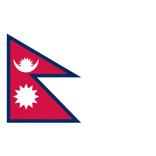 Nepal 5ft x 8ft Nylon Flag
