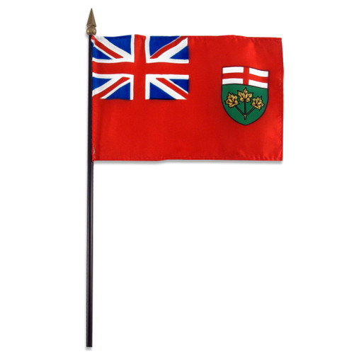 Ontario flag 4 x 6 inch