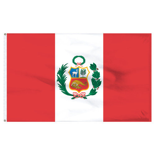 Peru 5ft x 8ft Nylon Flag