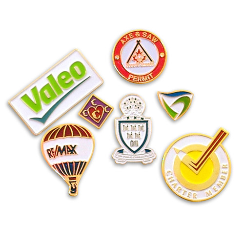Lapel Pin: Soft Enamel Custom 2-D Shape Up to 4 colors