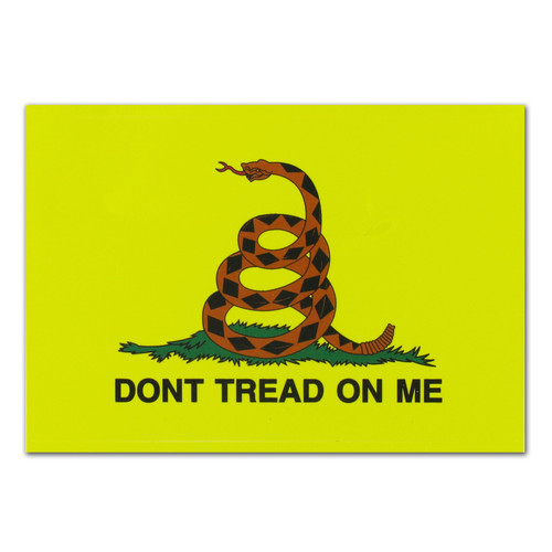 Gadsden Flag Decal -  Dont Tread On Me