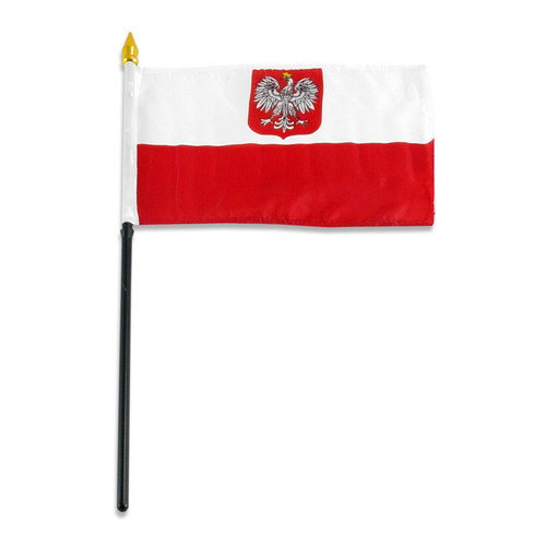 Poland State Flag and Civil Ensign 4in x 6in Flag