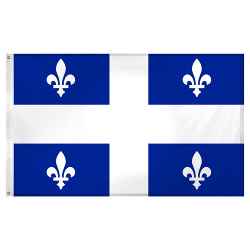 Quebec flag 3 x 5 feet Super Knit polyester