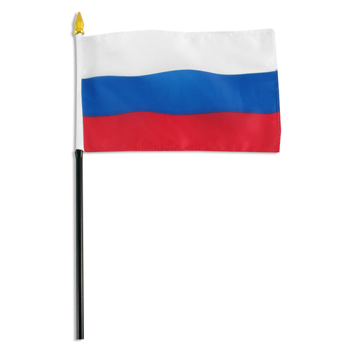 Russian Federation flag 4 x 6 inch