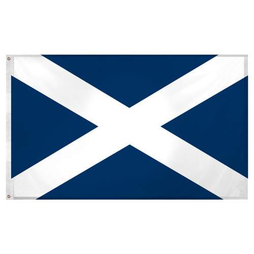 Scotland St Andrews Cross 3ft x 5ft Super Knit Polyester Scottish Flag