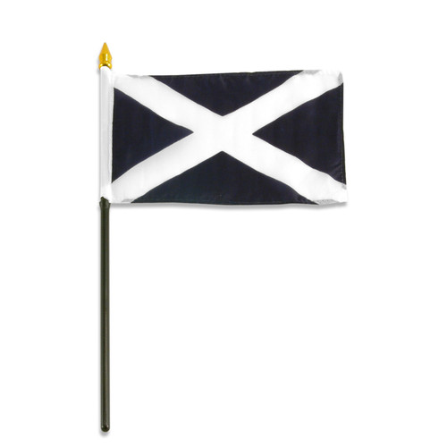 Scotland - St Andrews Cross 4in x 6inch Flag