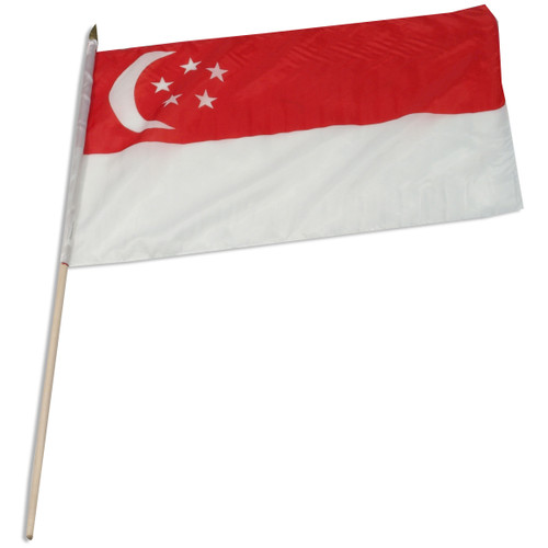 Singapore flag 12 x 18 inch