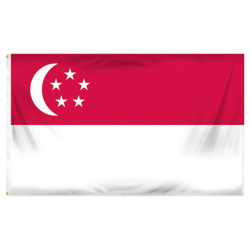 Singapore 3ft x 5ft Printed Polyester Flag