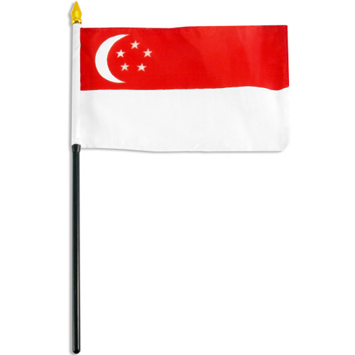 Singapore flag 4 x 6 inch
