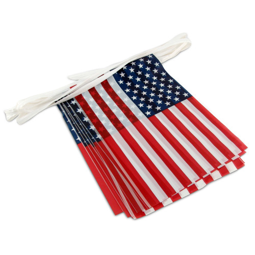 American Flag Pennant Streamers