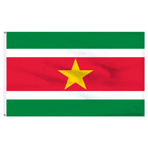Suriname 4ft x 6ft Nylon Flag
