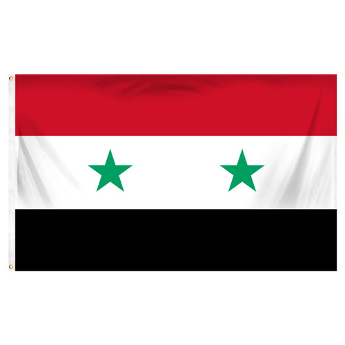 Syria 3ft x 5ft Printed Polyester Flag