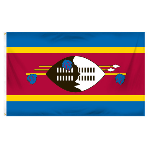 Swaziland 3ft x 5ft Printed Polyester Flag