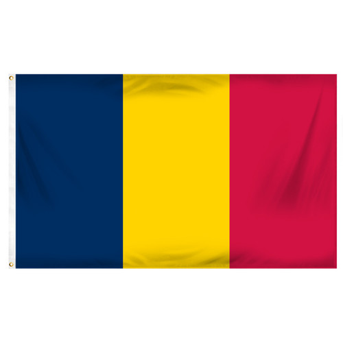 Chad 3ft x 5ft Printed Polyester Flag