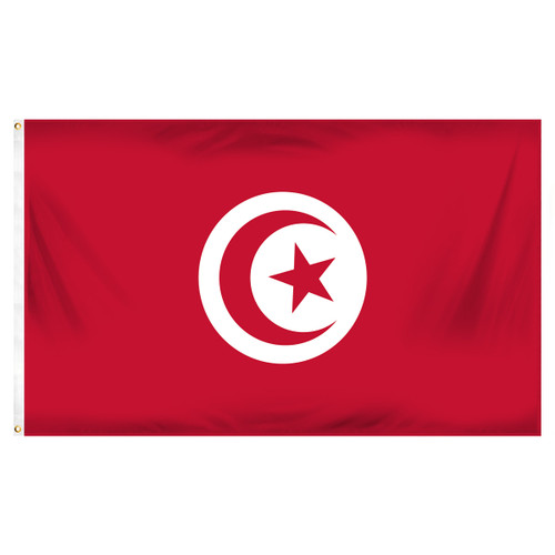 Tunisia 3ft x 5ft Printed Polyester Flag