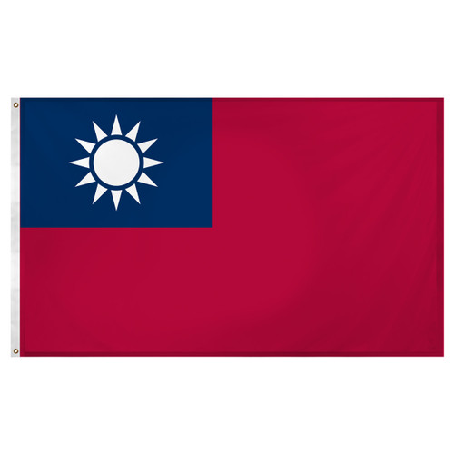 Taiwan flag 3ft x 5ft Super Knit Polyester