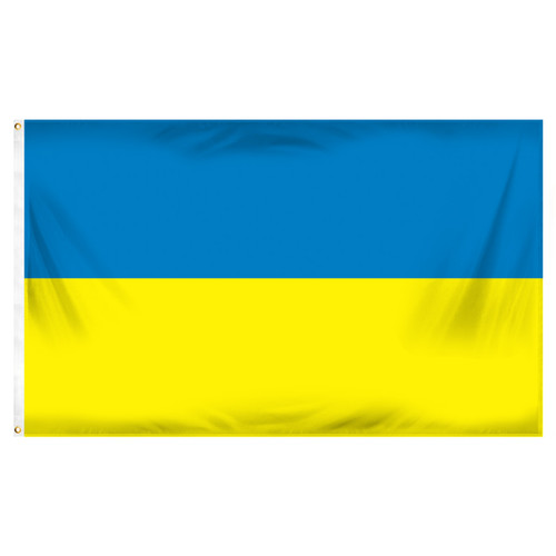 Ukraine Flag 3ft x 5ft Printed Polyester