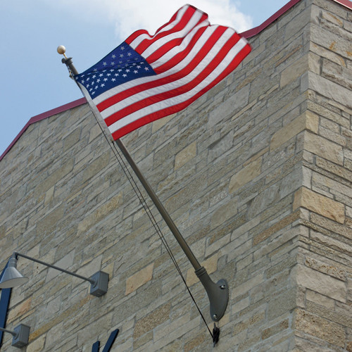 Outrigger Wall Mount Series 8ft Flagpole ECOM