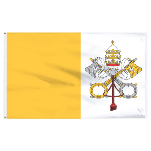 Vatican Flag 5ft x 8ft Nylon