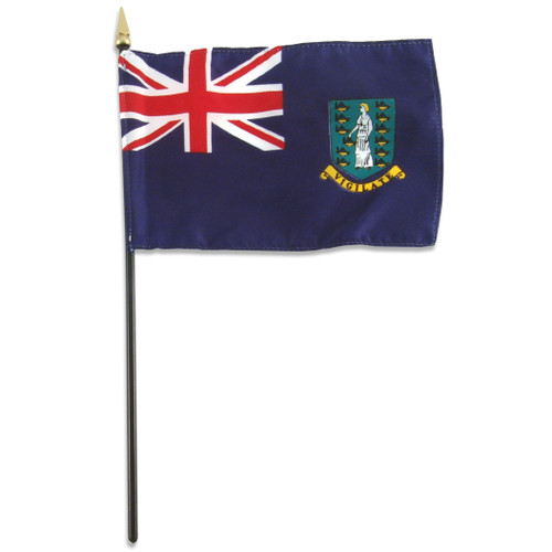 British Virgin Islands Flag 4 x 6 inch